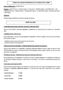 Conseil Municipal du 2019 02 25