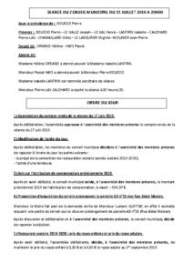 Conseil Municipal du 2019 07 15