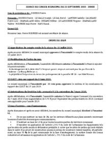 Conseil Municipal du 2019 09 23
