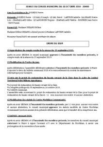 Conseil Municipal du 2019 10 28